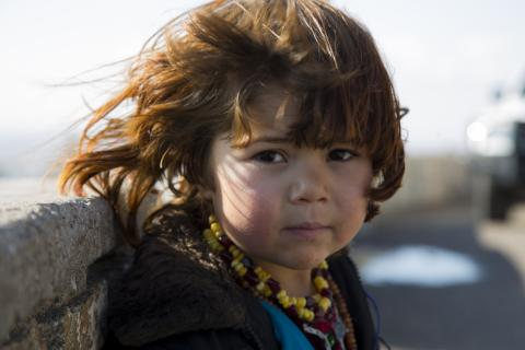 an IDP girl in Herat