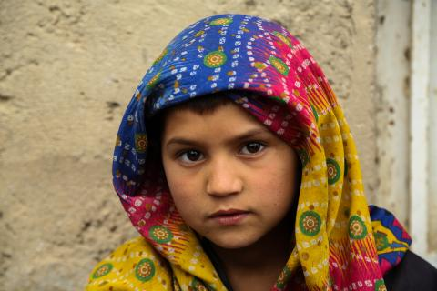 An IDP boy in Badghis, western Afghanistan
