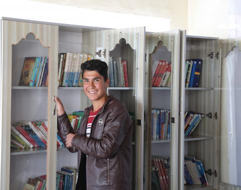 Asraf in his library