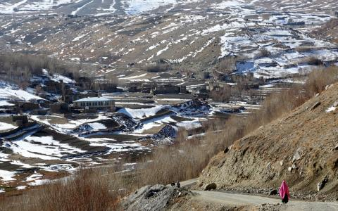 A view of a village in Bamyan