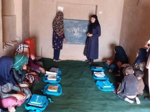 Farzana, 17, attends accelerated learning center (ALC), at That-e-Joy Village, Dara Suf Bala District, Samangan Provinces