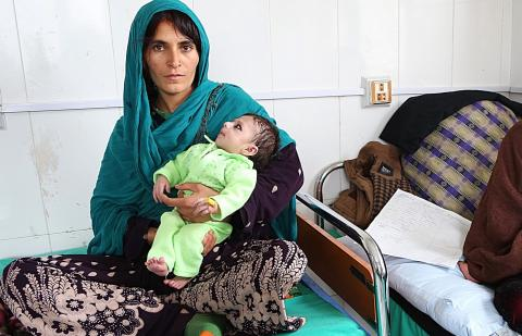 Hamida, 22, was married when she herself was still just a child. Her baby suffers from symptoms related to malnutrition.