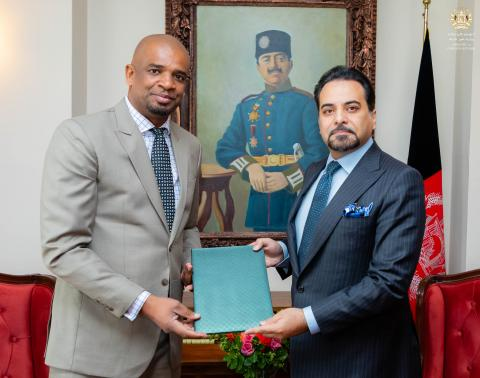 the new UNICEF Afghanistan Representative, Dr. Aboubacar Kampo presented his credentials to the Islamic Republic of Afghanistan's Ministry of Foreign Affairs