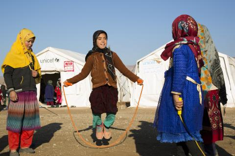 IDP girls in Herat