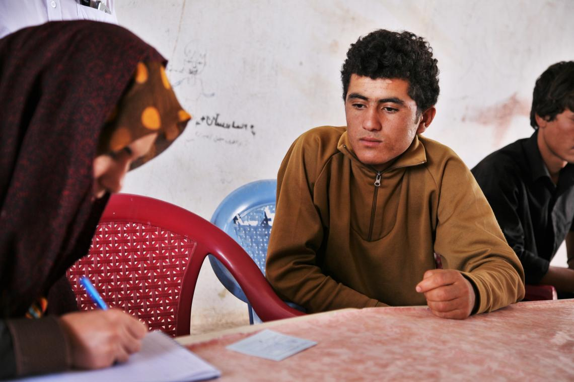 Fazil, an unaccompanied minor back in Afghanistan, being interviewed about his life in Afghanistan before he left.