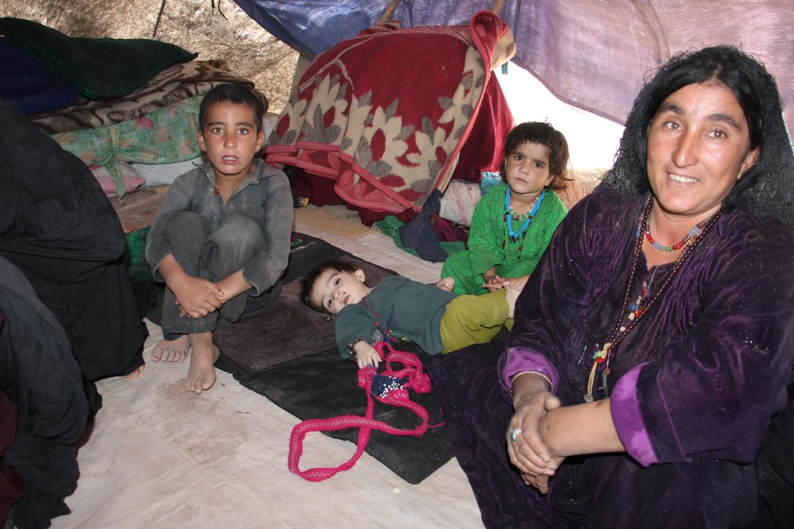 Alam, 35 with her four children