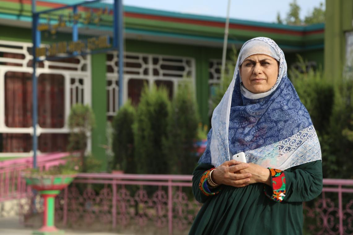 Saif, the principal of Bibi Hawa school in Jalalabad, eastern Afghanistan.