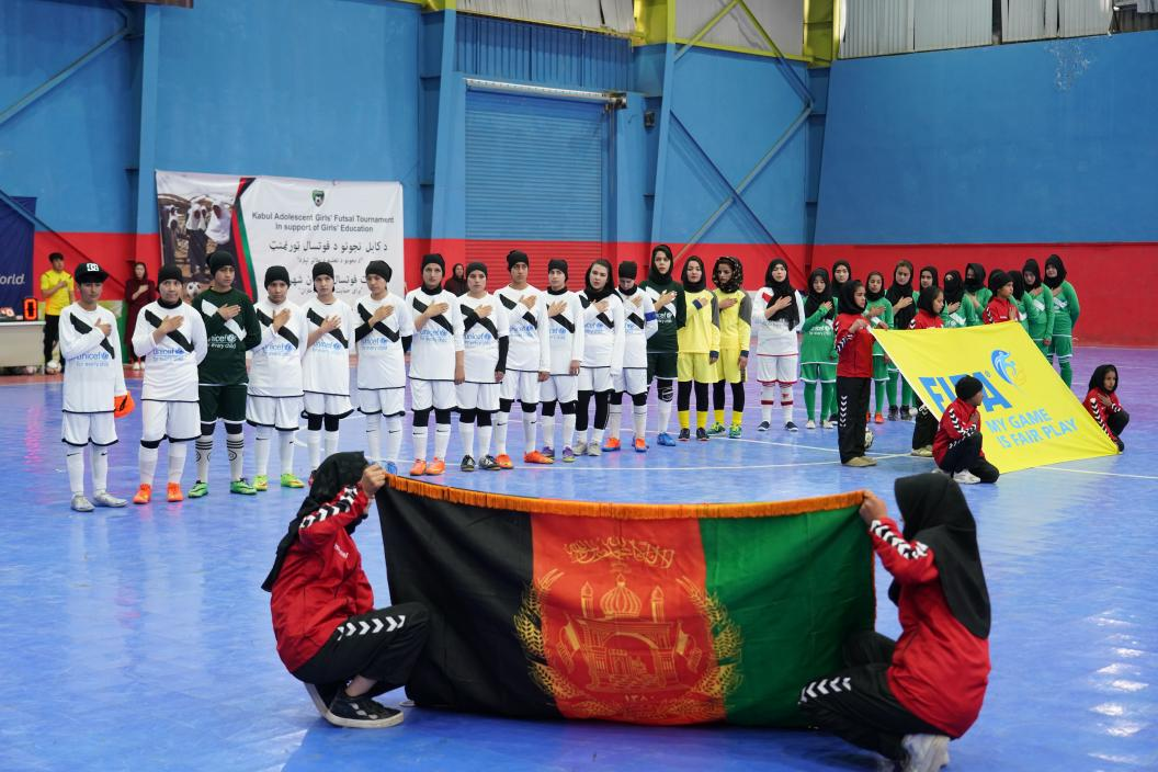 Kabul adolescent girls' futsal tournament in support to girls' education