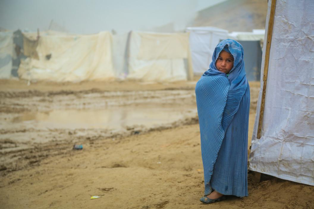 An IDP girl in Badghis, western Afghanistan