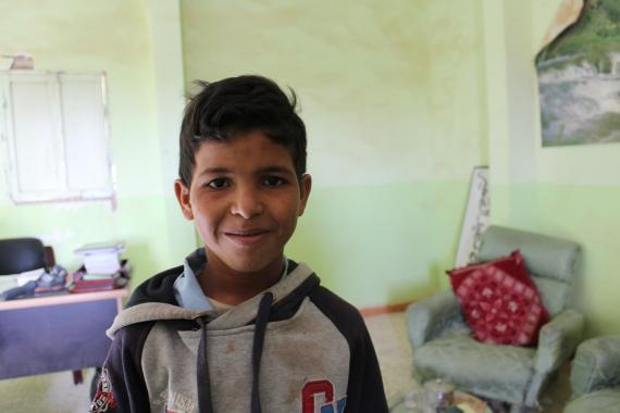 Jeune écolier sahraoui