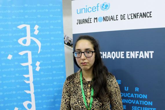 Maria, 14 ans- en 4ème année moyen : l'oratrice