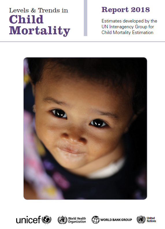 "Capa do relatório ""Levels & Trends in Child Mortality - Report 2018"""
