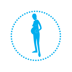 UNICEF icon for pregnant girl