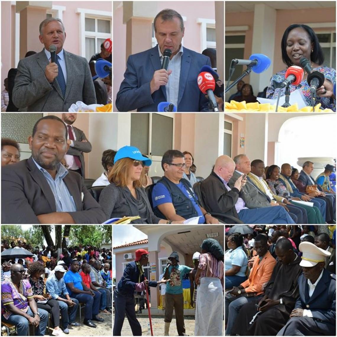 Compendium of pictures of the launch ceremony of yellow fever's campaign in Samba Caju, Kwanza Norte, November 2017