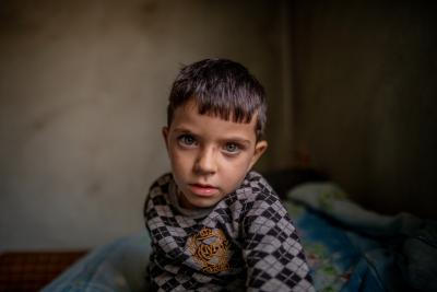 A boy lives in a family of seven in the town of Ashtarak. Every 3rd child in Armenia lives in poverty.