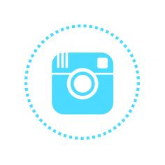 Instagram's cyan icon.