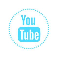 YouTube's cyan icon.