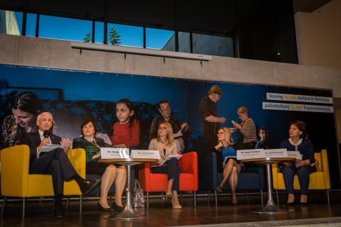 Panel discussion members of Social Protection Conference held in Yerevan in Oct. 31.