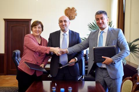 UNICEF signed a cooperation agreement with the Governor of Lori region and the Head of Alaverdi consolidated community.