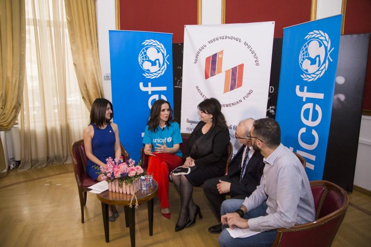 UNICEF, Hayastan All Armenian Fund and the Armenian community in