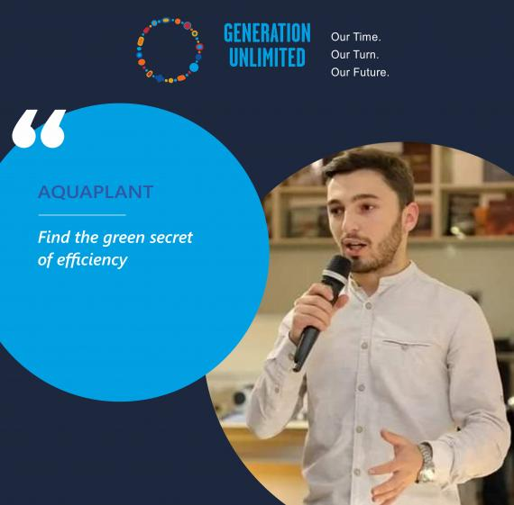Aquaplant team's visual with team leader and their moto.