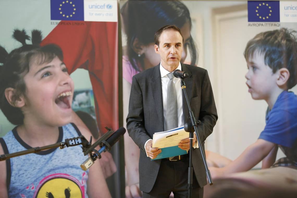 A new joint initiative between the European Union (EU) and UNICEF to protect the rights of the most vulnerable children and young people in Azerbaijan was unveiled.
