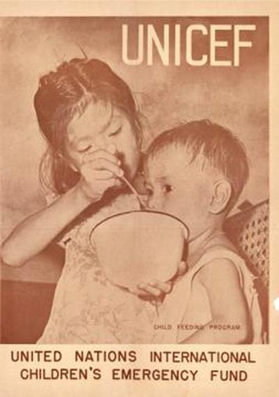 Image of children eating from 1946