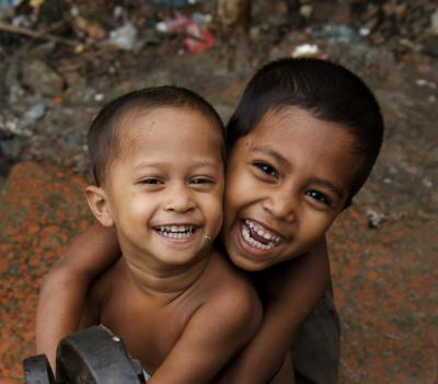 smiling children