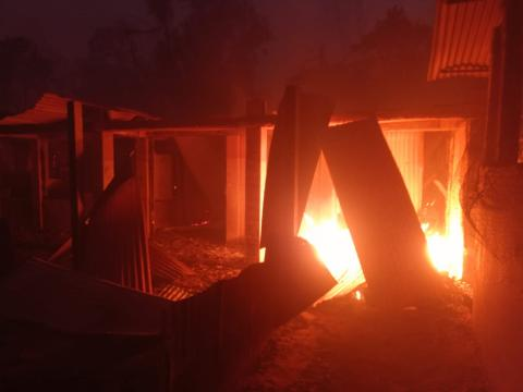Bangladesh. A devastating fire in the Rohingya camps, Cox's Bazar