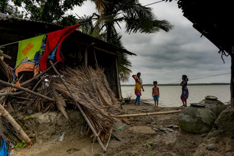 Bangladesh. After the cyclone Amphan