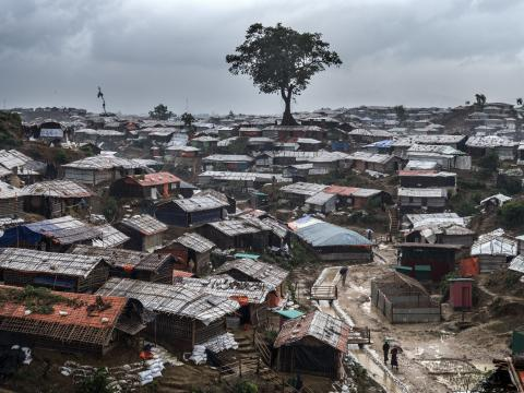 Bangladesh. Shelters sprawled across the Rohingya refugee camps in Cox's Bazar.