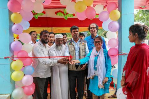 Md. Faruk Ahmed Camp in Charge Camp 15 religious and community leaders BITA and UNICEF officially open the first Social Hub in Jamtoli