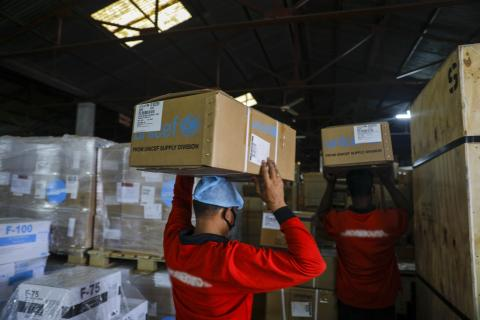 UNICEF warehouse