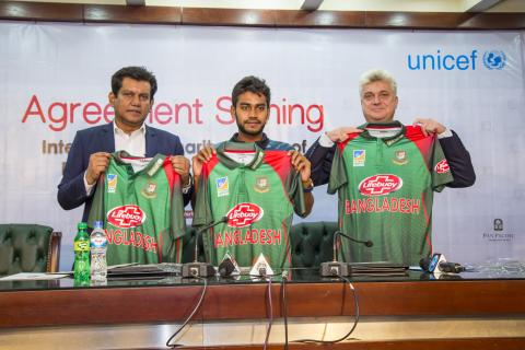 UNICEF logo to appear on Bangladesh national cricket team shirts