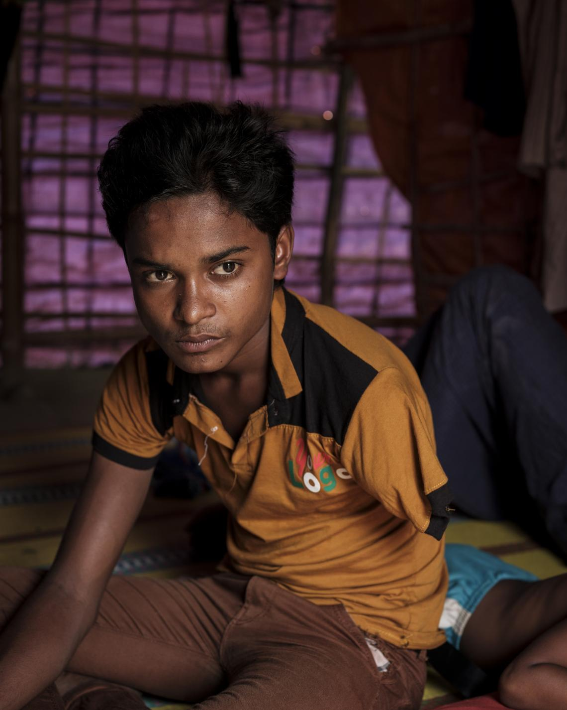 13 year-old Mohamed lost his arm during his flight from Myanmar last year