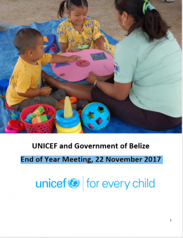 UNICEF and government of Belize