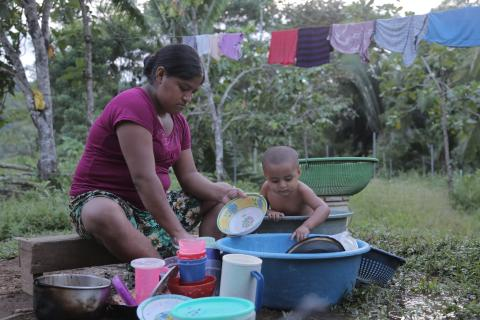 Baby and Mommy wash household items