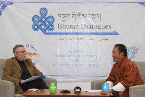 UNICEF Bhutan Representative at the Bhutan Dialogues Session