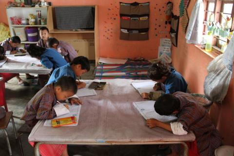 Students in Sershong Primary School