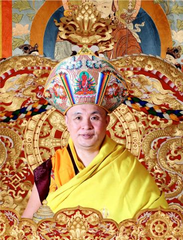 A portrait of the Chief Abbot of Bhutan
