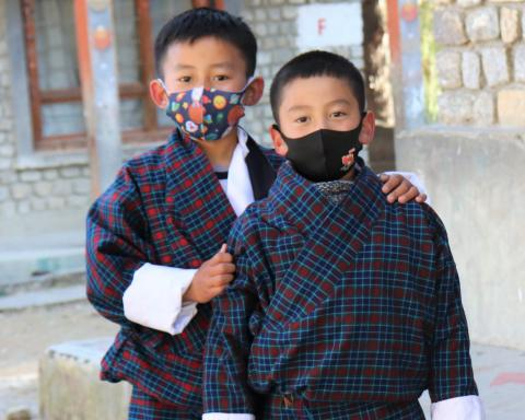 Two boy students of Drugyel Lower Secondary School in Paro