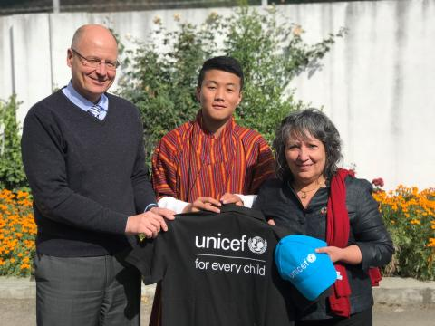 UNICEF Bhutan Representative, Sonam Wangchen and UNICEF Regional Director for South Asia