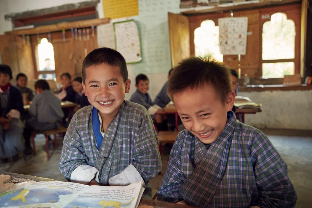School students in Walathang
