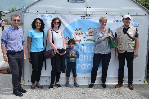 Swedish Embassy and UNICEF Bosnia and Herzegovina visited the Child Friendly Space in Salakovac