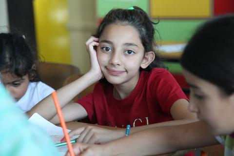 """We have classes for three days, then we have a field trip for two days. We went to Cazin and Bihać"", a girl named Sadaish explains, adding that she really liked summer school."