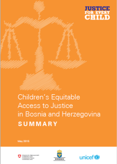 Children's Equitable Access to Justice in Bosnia and Herzegovina