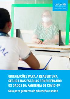 capa do guia para gestores de educação e saúde para reabertura segura das escolas