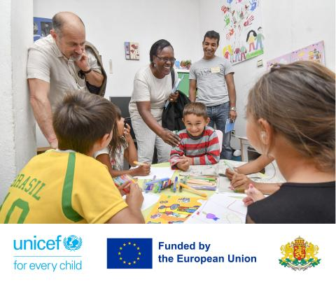 UNICEF Representative in Bulgaria met children in Sliven at UNICEF suppoted service