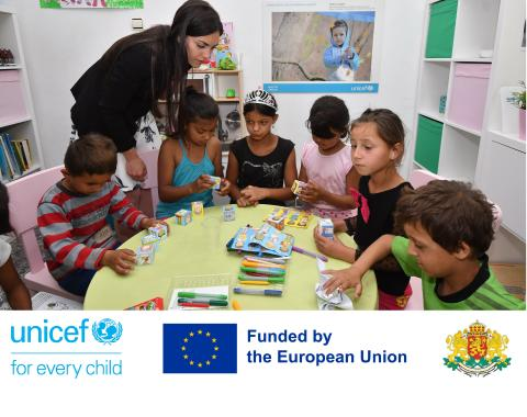 Children from vulnerable communities visit UNICEF supported social service