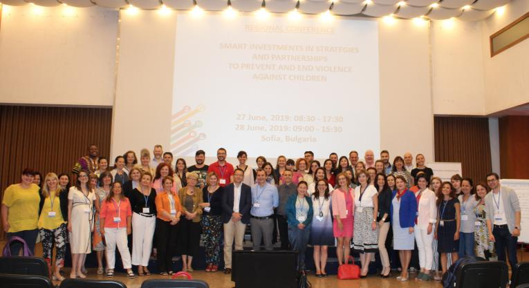 "The participants in the regional conference ""Smart investment in strategies and partnerships to prevent and address violence against children"""